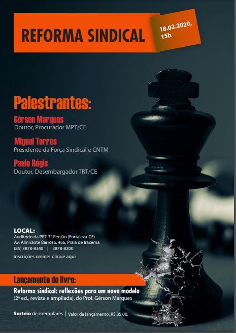 Sitramonti-CE participa de debate e lançamento de livro sobre reforma sindical no Ceará